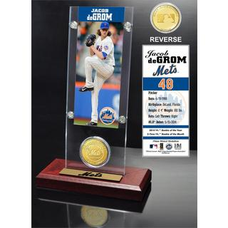 Jacob DeGrom Ticket and Bronze Coin Acrylic Desk Top