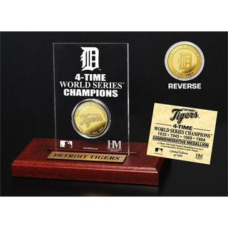 Detroit Tigers Gold Mint Coin Acrylic Desk Top Display