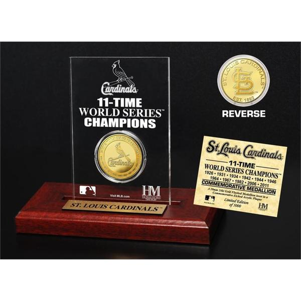 St. Louis Cardinals Gold Mint Coin Acrylic Desk Top Display