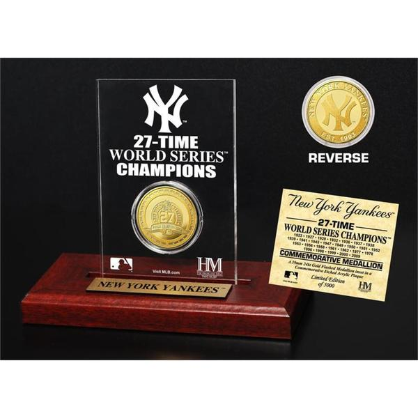 New York Yankees Gold Mint Coin Acrylic Desk Top Display