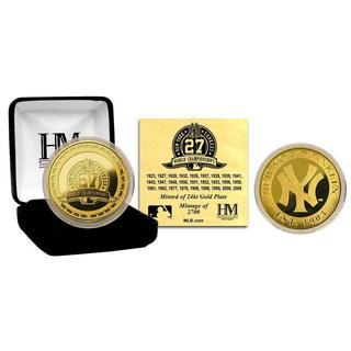 New York Yankees 27-time World Series Champions Gold Coin