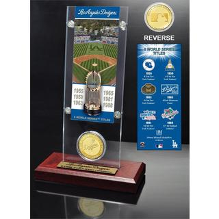 Los Angeles Dodgers World Series Ticket and Bronze Coin Acrylic Desk Top