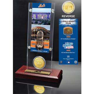 New York Mets World Series Ticket and Bronze Coin Acrylic Desk Top