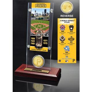 Pittsburgh Pirates World Series Ticket and Bronze Coin Acrylic Desk Top