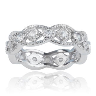 Journee Collection Sterling Silver Cubic Zirconia Engagement Band