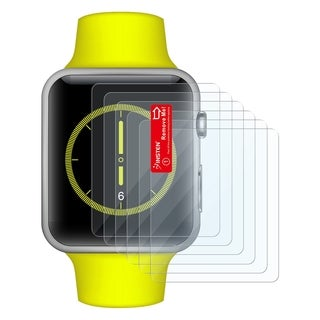 Insten Clear LCD Screen Protector Film Cover For Apple Watch 42mm (Single/ Pack of 3/ Pack of 6)