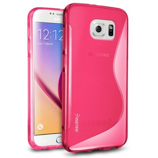 Insten Plain S Shape TPU Rubber Candy Skin Phone Case Cover For Samsung Galaxy S6