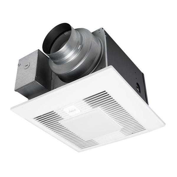 Whisper Green Select 110/130/150 CFM Customizable Ceiling Exhaust Bath Fan with LED Light, ENERGY STAR