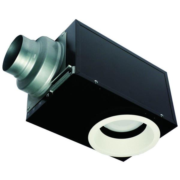 Recessed 80 cfm ceiling exhaust bath fan with led light for Bathroom exhaust fan with led light
