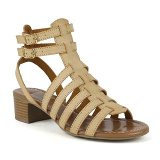 Mark and Maddux Women's 'Stanley-01' Camel Low-heel Gladiator Sandals