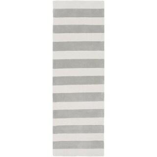 Hand-Tufted Copeland Stripe Polyester Rug (2'6 x 8')