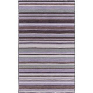 Hand-Woven Darryl Stripe Wool Rug (2' x 3')
