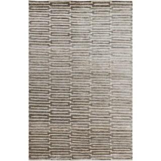 Hand-Knotted Aniya Stripe Viscose Rug (8' x 11')