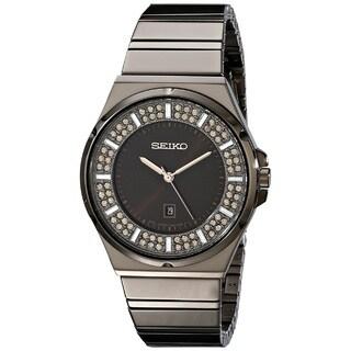 Seiko Women's SXDG35 Stainless Steel Watch with 84 Champagne Swarovski Crystals