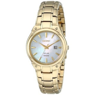 Seiko Women's SUT1304 Stainless Steel Gold Tone Watch