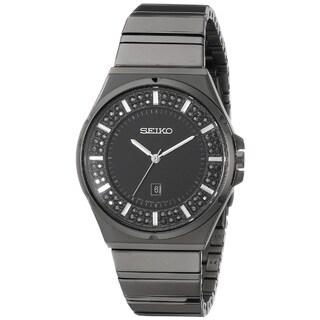 Seiko Women's SXDG37 Stainless Steel Watch with 84 Swarovski Crystals