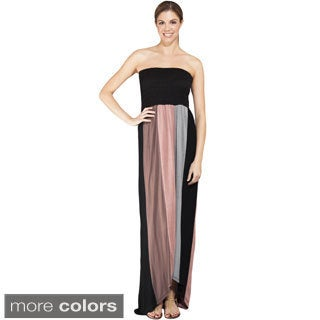 Women's Strapless Colorblocked Maxi Dress (Nepal)