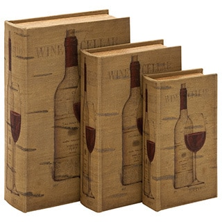 Wooden Storage Books (Set of 3)