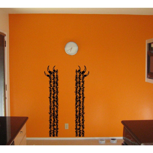Ripped Metal Claws Black Sticker Vinyl Wall Art