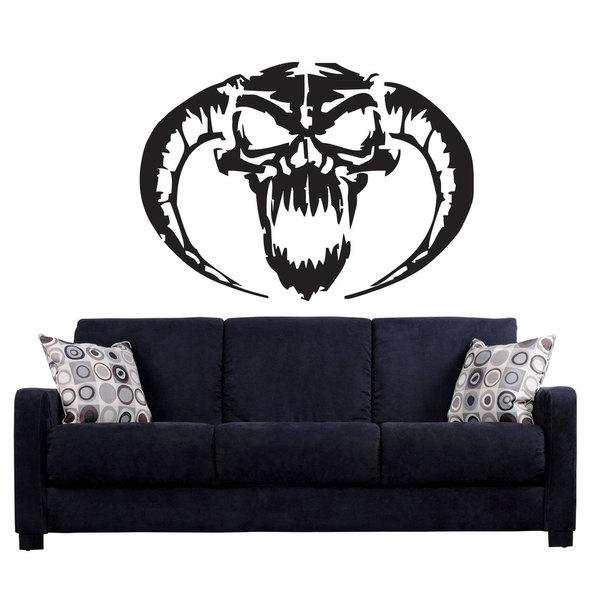 Devil Head Lucifer Demon Black Sticker Vinyl Wall Art