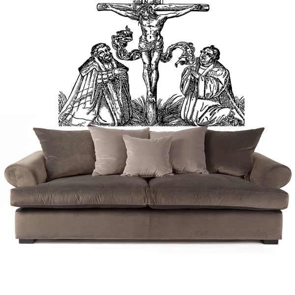 Jesus Crucifixion Black Sticker Vinyl Wall Art