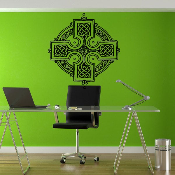 Celtic Cross Knot Viking Black Sticker Vinyl Wall Art