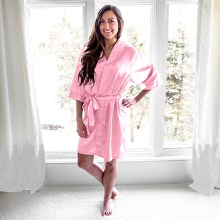 Personalized Light Pink Satin Robe