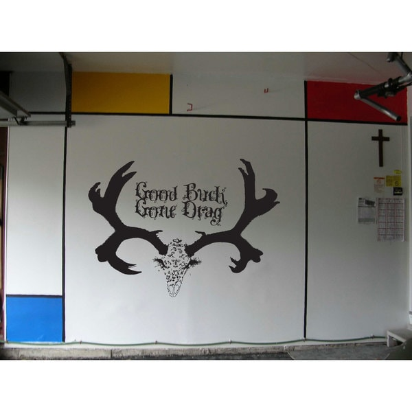 Good Buck Gone Drag Deer Hunting Black Sticker Vinyl Wall Art