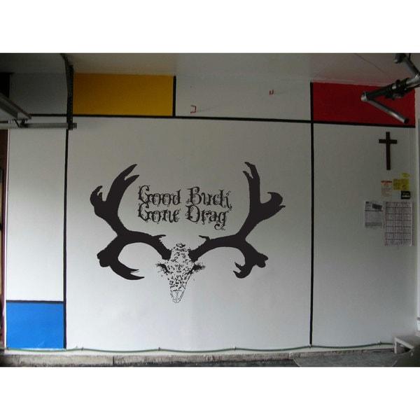 Good Buck Gone Drag Deer Hunting Black Sticker Vinyl Wall Art