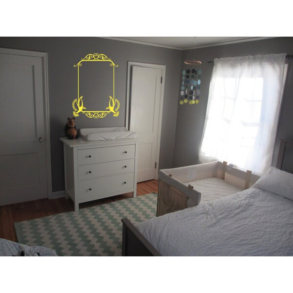 Mirror Frame Yellow Sticker Wall Art