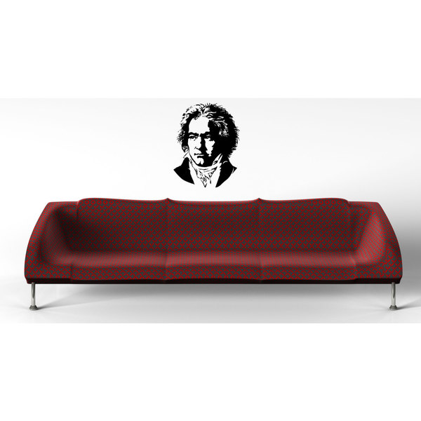 Beethoven Composer Music Black Sticker Vinyl Wall Art