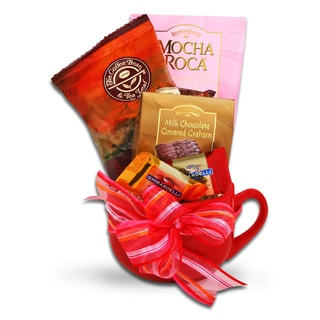 Coffee Bean and Tea Leaf Coffee Mug Mother's Day Gift Basket