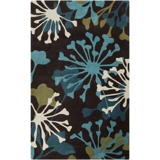 Hand-Tufted Elaina Floral Polyester Rug (9' x 13')