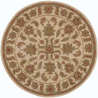 LNR Home Shapes Lr10562 Ivory Round Rug (8')