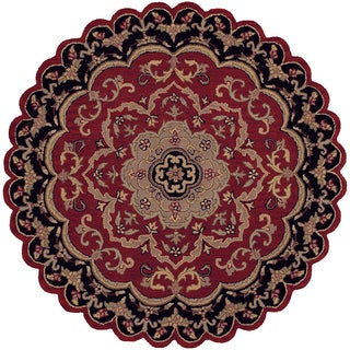 LNR Home Shapes Lr10572 Red/ Black Star Rug (5')
