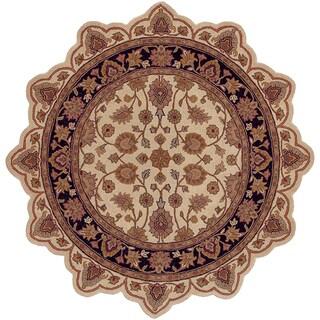 LNR Home Shapes Lr50004 Ivory/ Black Star Rug (5')