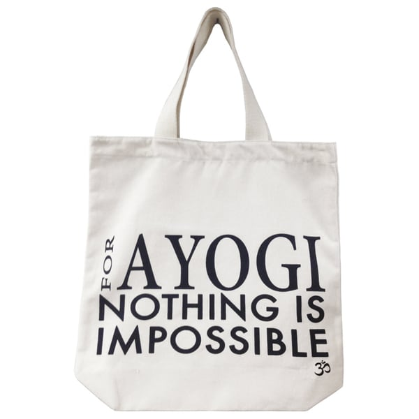 For A Yogi Nothing Is Impossible Eco Cotton Canvas Tote