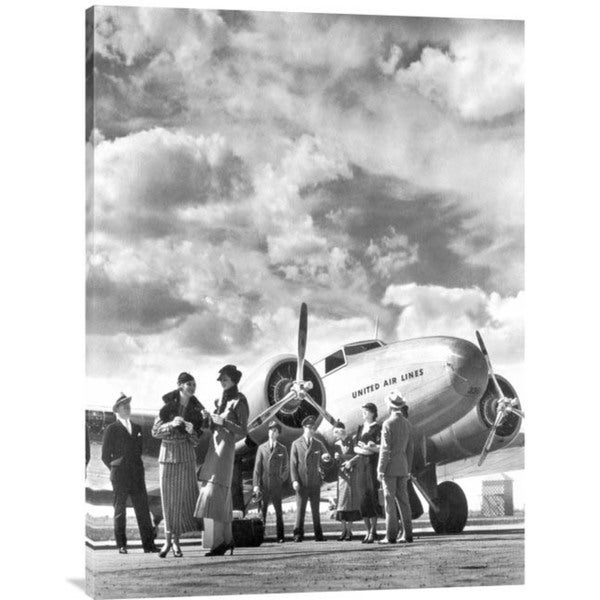 Philip Gendreau 'Passenger at Aviation Field at Newark NJ, 1940s' Stretched Canvas Artwork