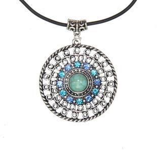 Handmade Tibetan Silver Sun God Necklace (China)