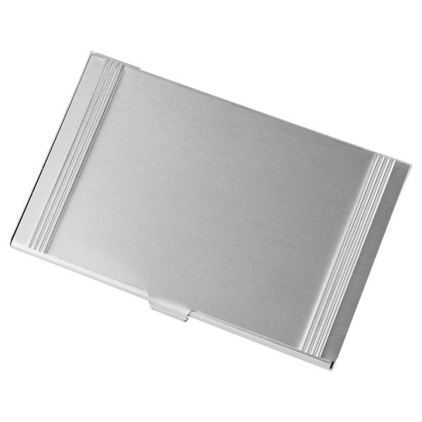 Visol Brushed Aluminium Business Card Holder