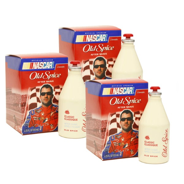 Old Spice Men's 4.25-ounce Nascar Edition Aftershave (Pack of 3)