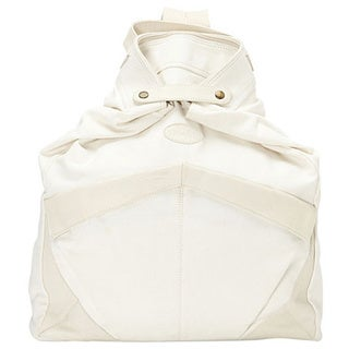 SHARO CL-1700 Off-white Canvas and Leather Backpack