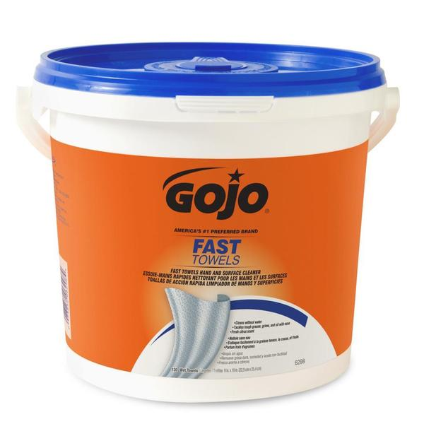 GOJO FAST WIPES Multi-Purpose Towels 130 Count Bucket