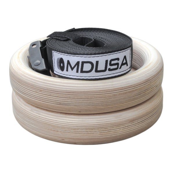 MDUSA Wood False Grip Training Rings (Set of 2)