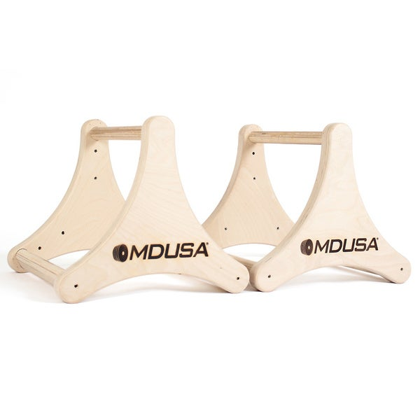MDUSA 3-way Grip Wood Parallettes