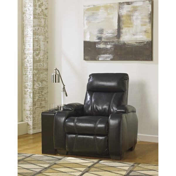 Signature Designs by Ashley Nebula Black Power Recliner