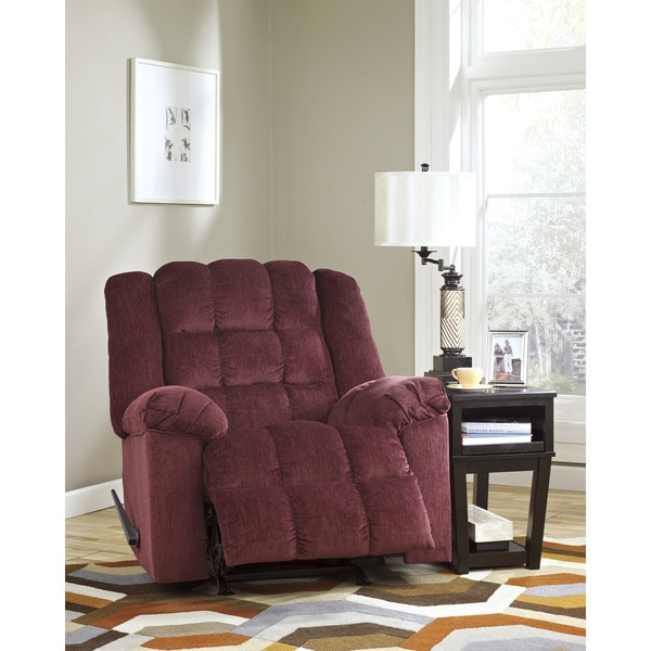 Signature Designs by Ashley Ludden Burgundy Rocker Recliner 15196136