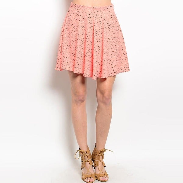 Shop The Trends Women's Polka Dot Wavy Hem Mini Skirt