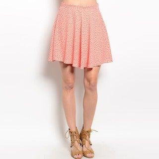 Shop The Trends Women's Polka Dot Wavy Hem Mini Skirt