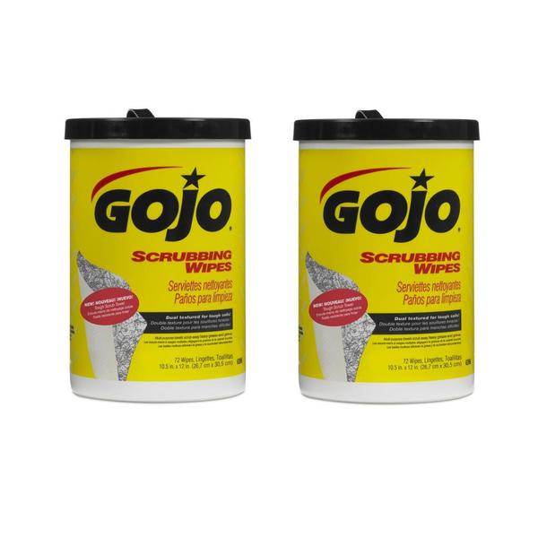 GOJO Scrubbing Wipes 72 Count Canister - 2pk 15196293